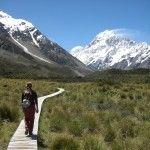 walking tramping hiking trekking Mount Cook National Park