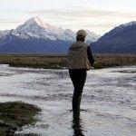 Fishing Tasman River Mt Cook New Zealand