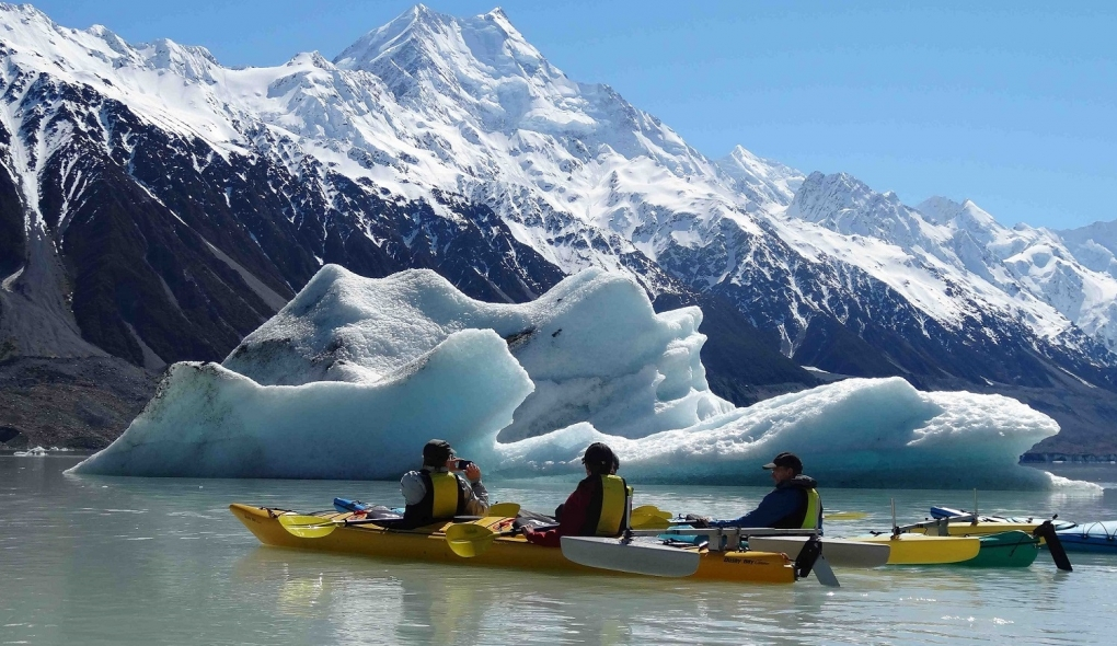 Mount Cook Glacier Sea Kayaking