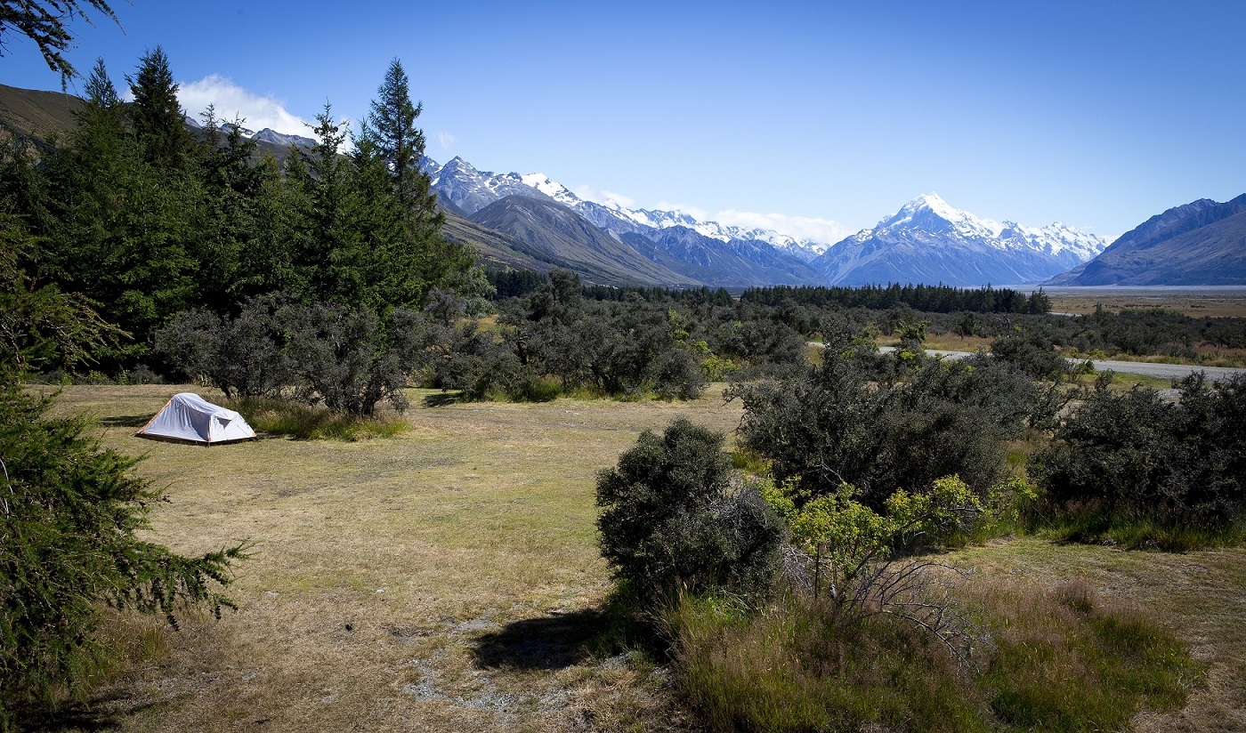 Tent Sites with Views of Aoraki Mount Cook